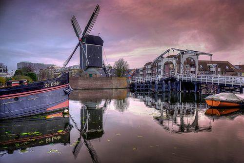 Molen De Put in Leiden van