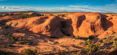 Panorama van het landschap in Arches Nationaal Park, VS