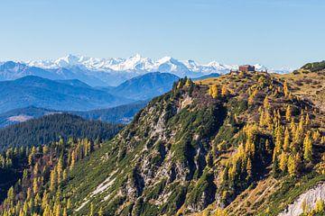 Berghütte mit Panorama von Coen Weesjes