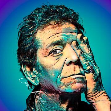 PopArt illustratie van Lou Reed van Martin Melis