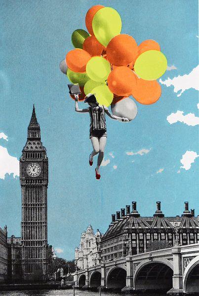 Balloons, 2017, (screen print) von Anne Storno