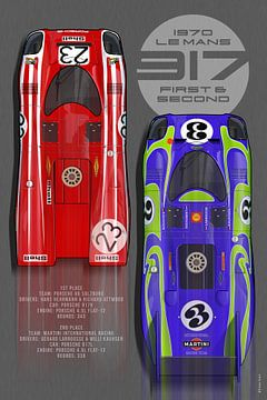 917 Première + Deuxième Place Le Mans 1970