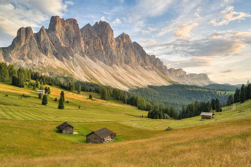 Groupe Geisler dans la vallée de Villnöss au Tyrol du Sud sur Michael Valjak