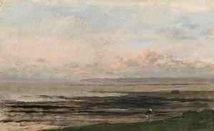 Strand bij eb (Zee van Daubigny), Charles-François Daubigny,