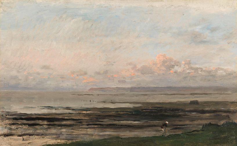 Strand bij eb (Zee van Daubigny), Charles-François Daubigny, van Meesterlijcke Meesters