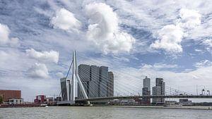 Rotterdam Erasmusbrug (Color) van Jeanette van Starkenburg
