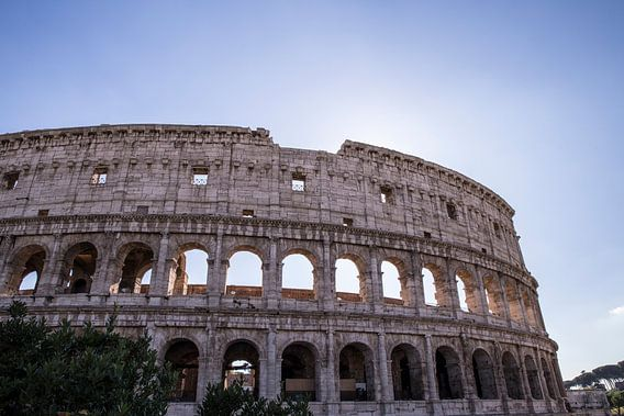 Kolosseum in Rom mit Hintergrundbeleuchtung