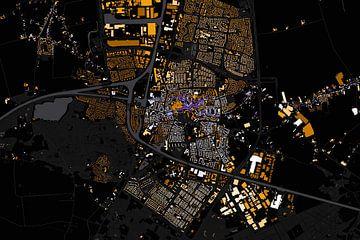 Kaart van Oosterhout abstract sur Stef Verdonk