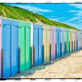 Strandhäuser Oostkapelle von Hans Lebbe
