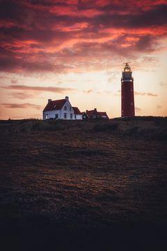Eierland-Leuchtturm, Texel, Die Niederlande von Colin Bax