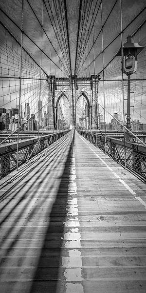 NEW YORK CITY Brooklyn Bridge | Panorama van Melanie Viola