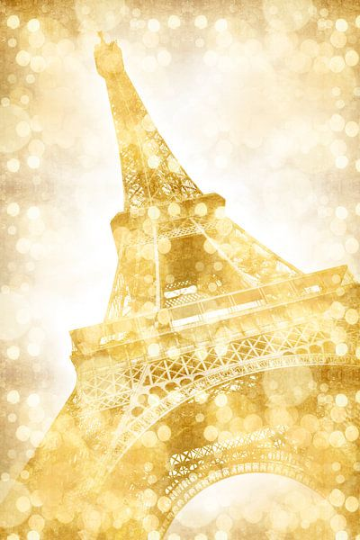 Eiffeltoren | goud van Melanie Viola