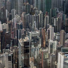 A forest of high rises in Hongkong Central von Fleur Halkema