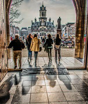 Deur Nieuwekerk Delft sur Harrie Muis