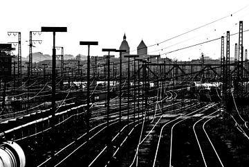 Gleisanlagen Silhouette Osnabrück  von Norbert Sülzner