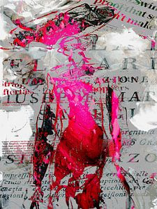 The woman in pink and red
