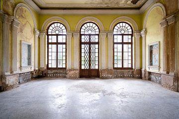 Gare abandonnée en décomposition. sur Roman Robroek