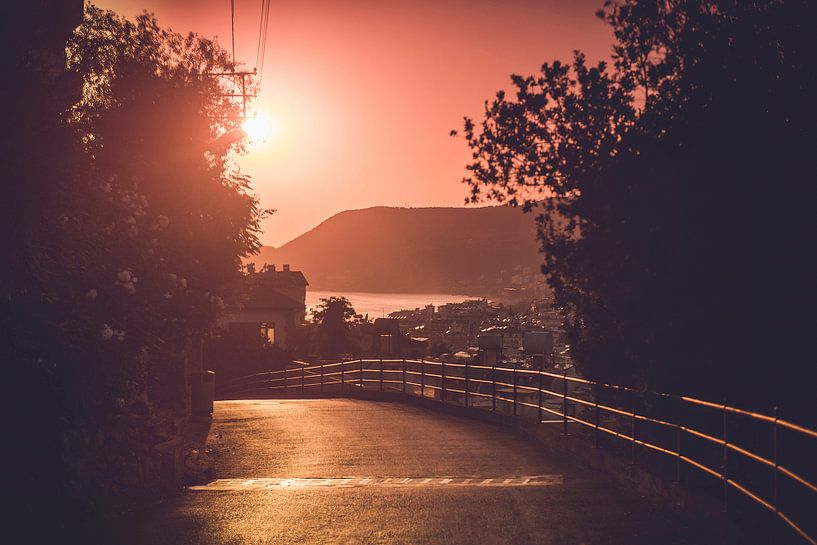 Zonsondergang in Alanya van Ratna Bosch