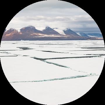 Gebroken zee-ijs Antarctica van Eefke Smets