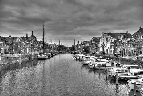 Historisch Delfshaven in zwart-wit (HDR) 2 van