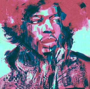 Jimi Hendrix Lets play Music Pop Art PUR