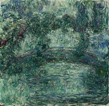Japanische Brigade über den Seerosenteich in Giverny, Claude Monet