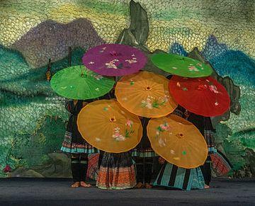 Vietnam: Danser (Cat Cat village) van Maarten Verhees
