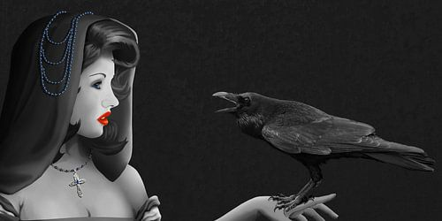 Mysterie van de vrouw en van Raven