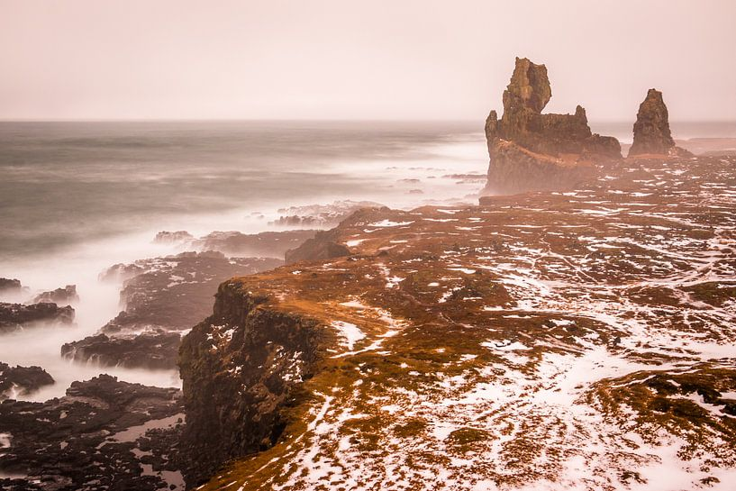 Snaefellsness kustlijn IJsland van Eefke Smets