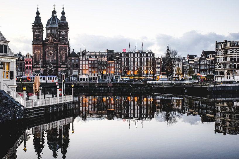 Amsterdam Winter Lights II van Alexander Tromp