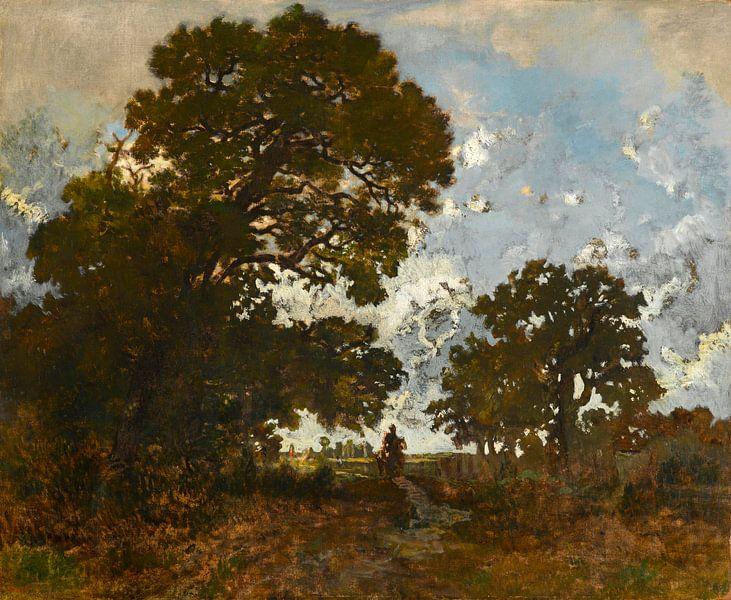 Die Buche im Wald von L'Isle Adam, Théodore Rousseau von Meesterlijcke Meesters