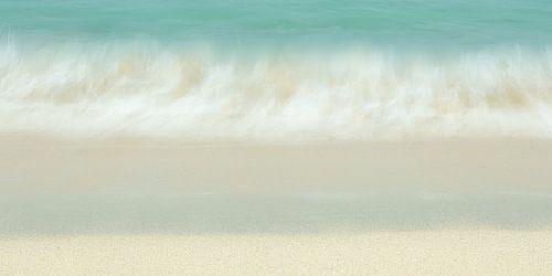 Aanspoelende golf op het strand