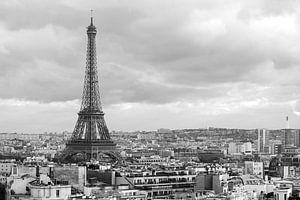 De Eiffeltoren vanaf de Arc de Triomphe