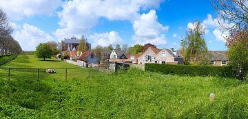 Veere, panorama van Atelier Liesjes