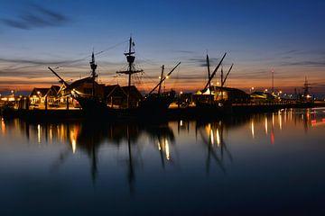 Piratenschip haven Oudeschild van Ronald Timmer