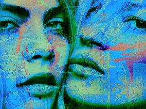 Cara Delevingne vs Kate Moss Splash Pop Art PUR 1