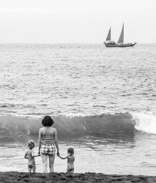 Wegdromen aan zee van Emil Golshani