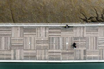 Vue sur la jetée (ExpositionLisbon) sur Werner Lerooy