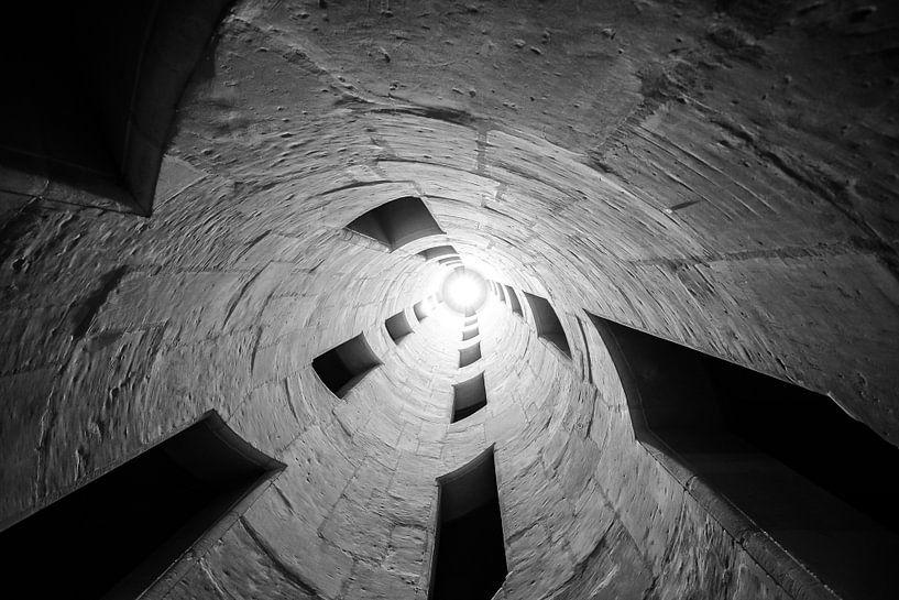 Architectuur van de dubbele helix trap van Fotografiecor .nl