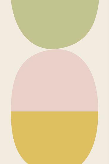 Balance 3 - illustration graphique en couleurs douces