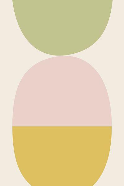 Balance 3 - illustration graphique en couleurs douces sur Kim Karol / Ohkimiko