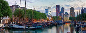 Panorama historische schepen Rotterdam