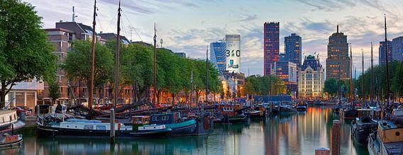 Panorama historische schepen Rotterdam van Anton de Zeeuw