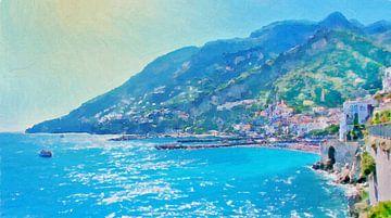Italien - Amalfiküste - Amalfi von Schildersatelier van der Ven