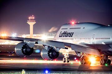 Lufthansa Boeing 747 klaar voor vertrek van