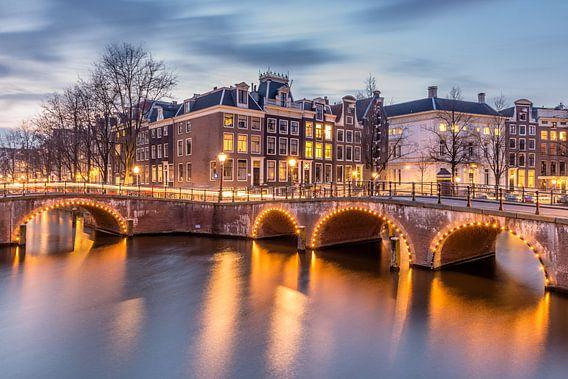 Keizersgracht / Leidsegracht in Amsterdam van Bert Buijsrogge