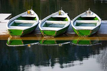 Ruderboote am Walchensee von Andreas Müller