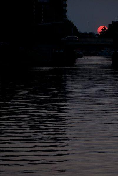 Zonsondergang in Groningen