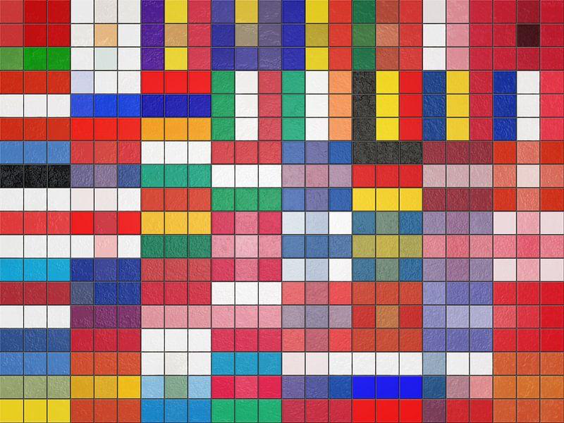 Europese vlaggen als tegelwand van Frans Blok