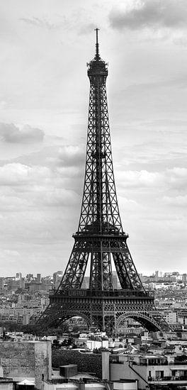 Eiffel Tower PARIS black-white van Melanie Viola